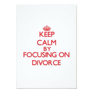 """Guarde la calma centrándose en divorcio invitación 5"""" x 7"""""""