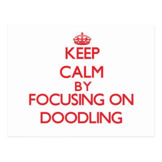 Guarde la calma centrándose en Doodling Tarjetas Postales