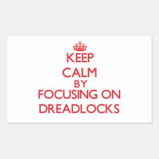 Guarde la calma centrándose en Dreadlocks Rectangular Altavoces