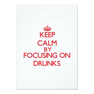 """Guarde la calma centrándose en Drunks Invitación 5"""" X 7"""""""