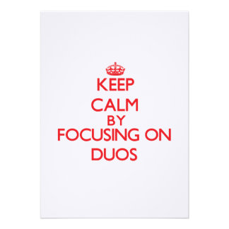 Guarde la calma centrándose en dúos comunicado personal