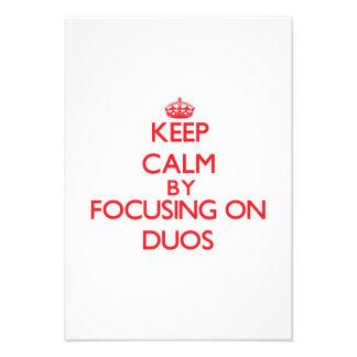 Guarde la calma centrándose en dúos comunicados