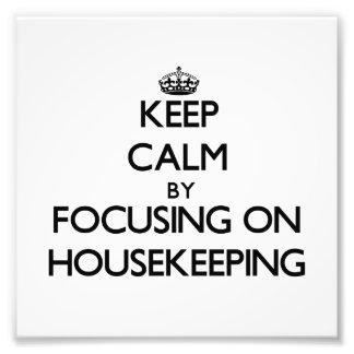 Guarde la calma centrándose en economía doméstica