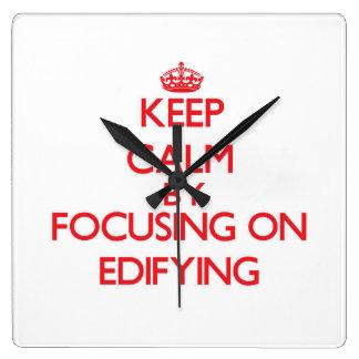 Guarde la calma centrándose en EDIFYING Relojes