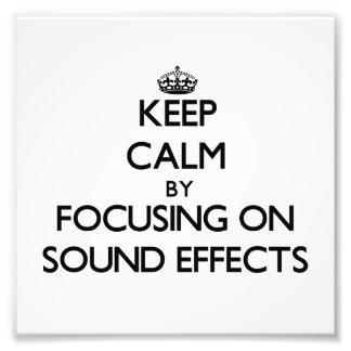 Guarde la calma centrándose en efectos sonoros