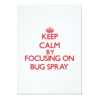 Guarde la calma centrándose en el aerosol de comunicado personal