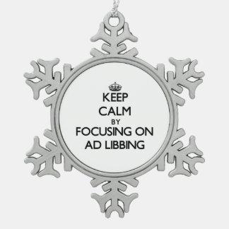 Guarde la calma centrándose en el anuncio Libbing