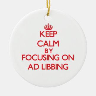 Guarde la calma centrándose en el anuncio Libbing Ornamento De Reyes Magos