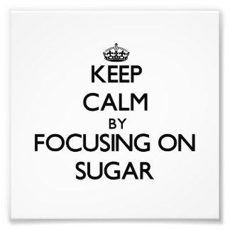Guarde la calma centrándose en el azúcar