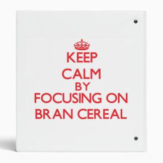 Guarde la calma centrándose en el cereal del