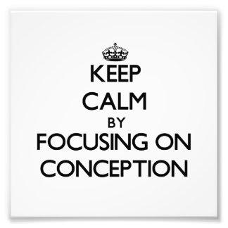 Guarde la calma centrándose en el concepto impresion fotografica