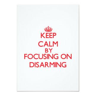 Guarde la calma centrándose en el desarme invitación