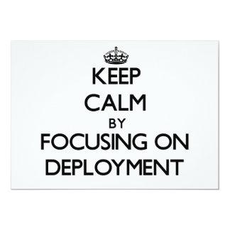Guarde la calma centrándose en el despliegue comunicado personal
