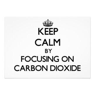 Guarde la calma centrándose en el dióxido de carbo