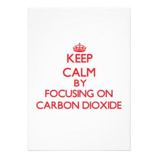 Guarde la calma centrándose en el dióxido de invitacion personal