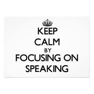 Guarde la calma centrándose en el discurso comunicados