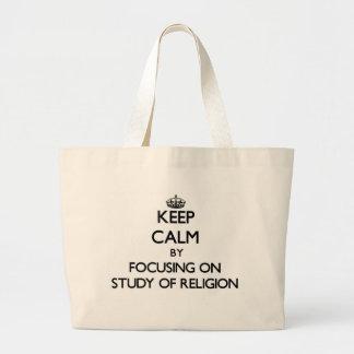 Guarde la calma centrándose en el estudio de la bolsas de mano