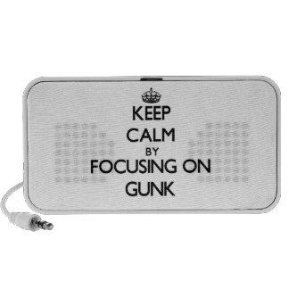 Guarde la calma centrándose en el Gunk iPod Altavoz
