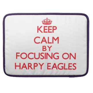Guarde la calma centrándose en el Harpy Eagles Fundas Macbook Pro