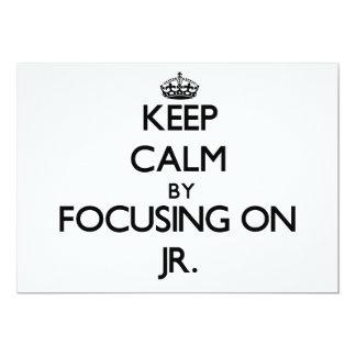 """Guarde la calma centrándose en el Jr. Invitación 5"""" X 7"""""""