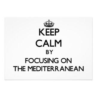 Guarde la calma centrándose en el mediterráneo