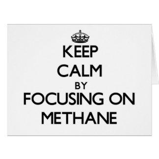 Guarde la calma centrándose en el metano tarjeta de felicitación grande