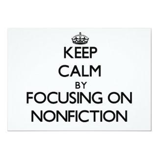 Guarde la calma centrándose en el Nonfiction Anuncios