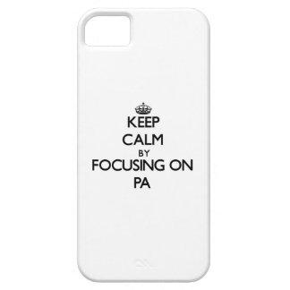 Guarde la calma centrándose en el PA iPhone 5 Case-Mate Cobertura