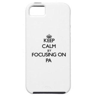 Guarde la calma centrándose en el PA iPhone 5 Case-Mate Coberturas