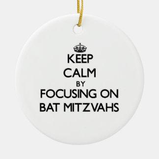 Guarde la calma centrándose en el palo Mitzvahs Ornamentos De Reyes