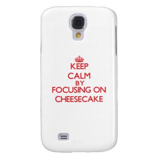 Guarde la calma centrándose en el pastel de queso