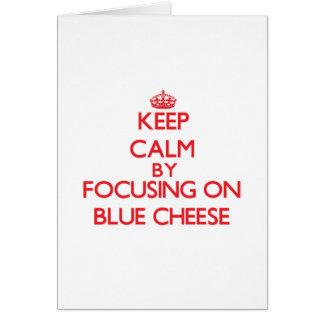 Guarde la calma centrándose en el queso verde tarjeta de felicitación