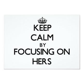 Guarde la calma centrándose en el suyo comunicado