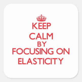 Guarde la calma centrándose en ELASTICIDAD Calcomanía Cuadradas Personalizadas
