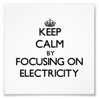 Guarde la calma centrándose en electricidad