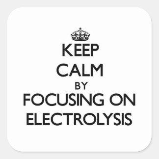 Guarde la calma centrándose en ELECTRÓLISIS Colcomanias Cuadradases