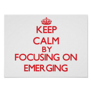 Guarde la calma centrándose en EMERGER Poster