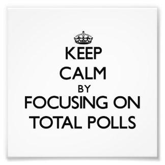 Guarde la calma centrándose en encuestas totales cojinete