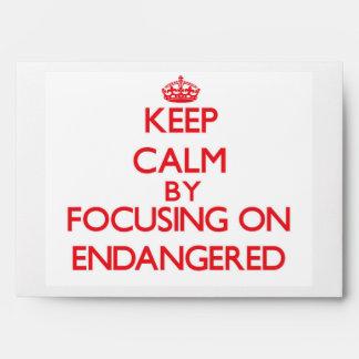 Guarde la calma centrándose en ENDANGERED