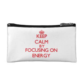 Guarde la calma centrándose en ENERGÍA