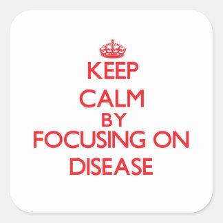 Guarde la calma centrándose en enfermedad colcomania cuadrada