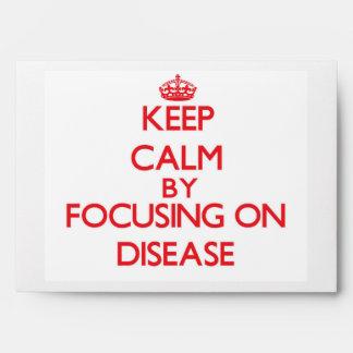 Guarde la calma centrándose en enfermedad