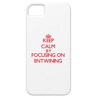 Guarde la calma centrándose en ENTRELAZAR iPhone 5 Case-Mate Cobertura