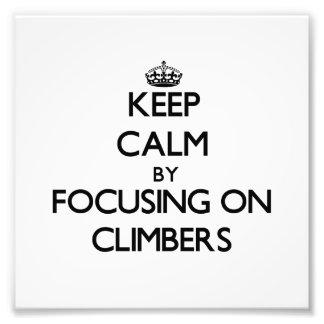 Guarde la calma centrándose en escaladores