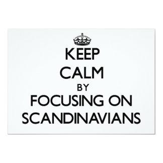 Guarde la calma centrándose en escandinavos invitación 12,7 x 17,8 cm