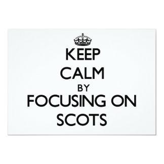Guarde la calma centrándose en escocés invitación personalizada