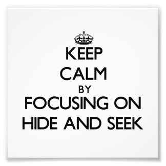 Guarde la calma centrándose en escondite arte fotográfico