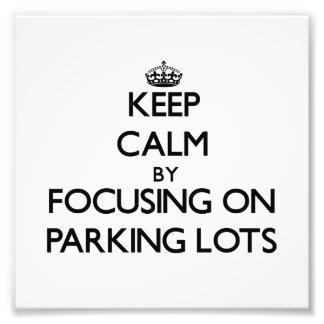 Guarde la calma centrándose en estacionamientos cojinete