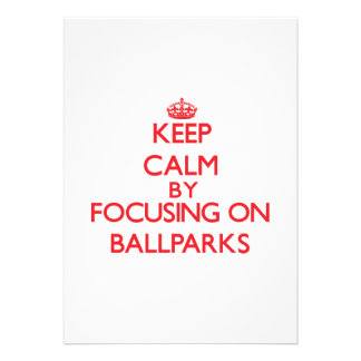 Guarde la calma centrándose en estadios de béisbol anuncio