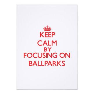 Guarde la calma centrándose en estadios de béisbol comunicados personales